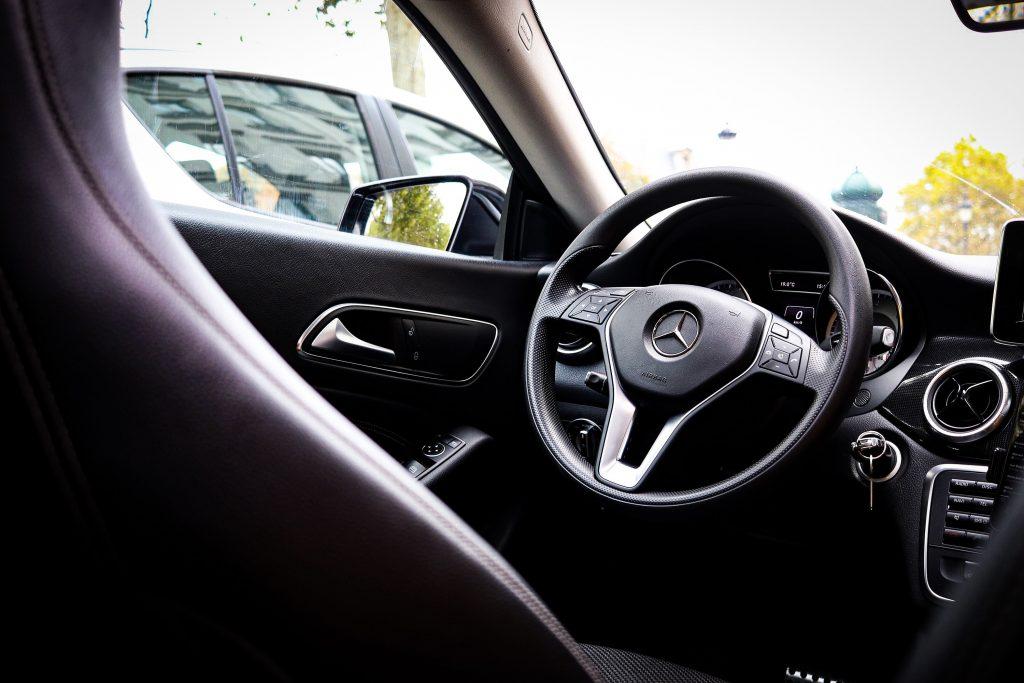 intérieur de véhicule taxi