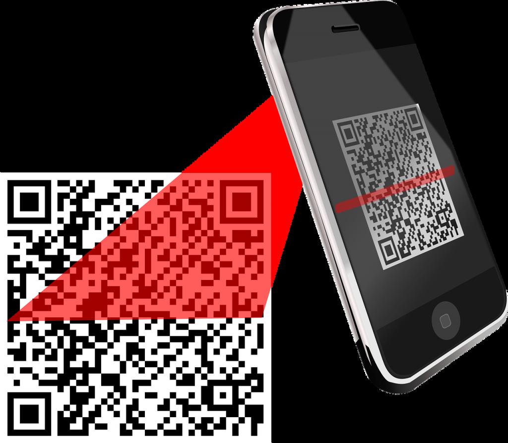 téléphone qui lit un code-barres grâce à une application